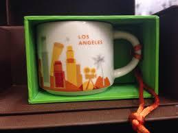 starbucks 2013 ornaments nib mug los angeles new city