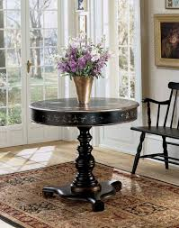 accent table for foyer wonderful round foyer table style the home redesign intended for