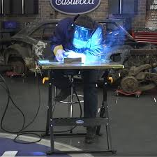 Folding Welding Table Eastwood Adjustable Steel Welding Table