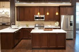 walnut kitchen cabinets granite countertops dark table design