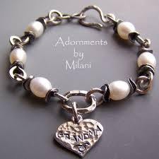 sterling silver personalized jewelry bracelet personalized jewelry pearls charm sterling silver