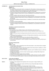 recruiter resume exles sourcing recruiter resume sles velvet