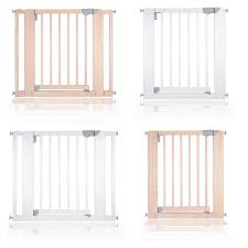 Baby Stair Gates Safetots Chunky Wooden Pressure Fit Pet Gate Natural 81cm 89cm