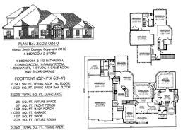 3 Car Garage Plans With Loft House Plans 4 Bedroom 2 Story Three Car Garage House Plans Two