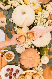 inspired idea a fall tablescape and pumpkin serving bowls