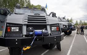 police armored vehicles graduation of kord police specical force troops unian
