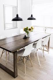 dark dining room table scandinavian inspired dining room mörbylånga table eames chairs