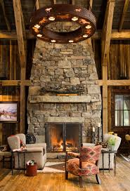 rustic stone fireplaces interior rustic stone fireplaces with cream upholstery sofa two