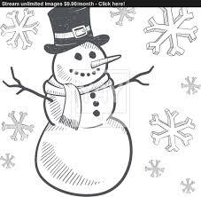 image gallery snowman sketch