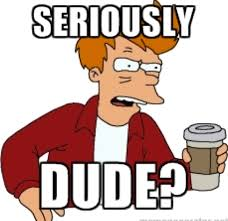 Futurama Fry Meme - seriously dude futurama fry meme imgur