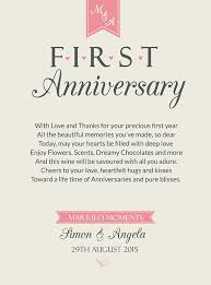 1st year wedding anniversary anniversary wine label personalised 1st by milabelstudios