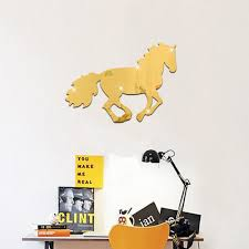 popular mirror adhesive buy cheap mirror adhesive lots from china 35x25cm horse shaped pattern wall stickers children s room bedroom living room tv sofahome decoration self adhesive