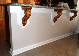 Mission Style Corbels Modified Bar Corbels Add Elegant Touch To Contemporary Kitchen