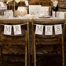 mr and mrs table decoration mr mrs chair bunting with love with love wedding pinterest