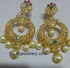 chandbali earrings diamond chandbali earrings jewellery designs