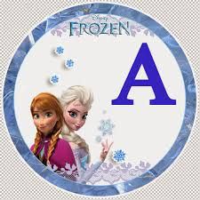 frozen alphabet letters printable party banner free