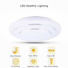 modern 24w round led ceiling lights fixture natural