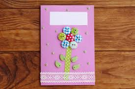 s day cards for school s day or birthday greeting card with flower isolated on