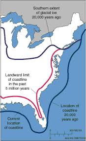 map of america 20000 years ago changine sea level