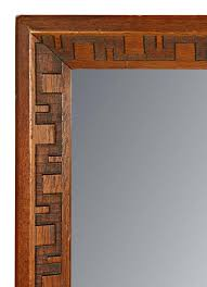 mahogany mirror by frank lloyd wright at 1stdibs