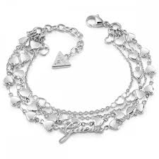 multi heart bracelet images Guess jewellery shine on me multi heart four row chain bracelet jpg