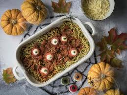 spooky eyeball pasta recipe microwave recipes the ideas kitchen