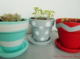 Painting Garden Pots Ideas Pomegranate House Painted Flower Pots Diy