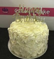 Happy Birthday Rosette Cake And Bake
