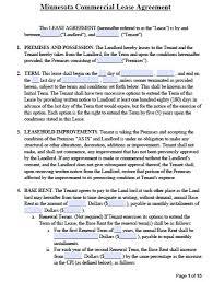free minnesota commercial lease agreement template u2013 pdf u2013 word u2013 rtf