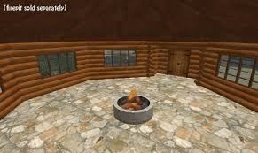 octagon cabin second life marketplace the octagon log cabin 41 prims log