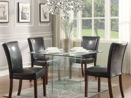 Glass Dining Room Furniture Sets Kitchen Glass Kitchen Tables And 9 Rectangular Glass Dining