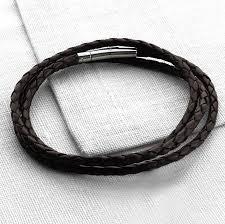 leather wrap bracelet men images Mens plaited leather wrap bracelet by hurleyburley man jpg