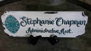 custom office desk signs custom desk name plate signs by karen on etsy com touchofjoydesigns