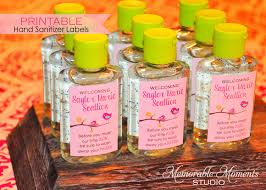 printable little birdie mini hand sanitizer labels for baby