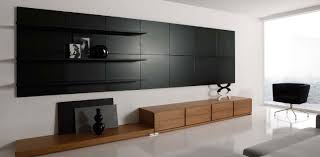 wonderful contemporary wall ideas with black panels also living