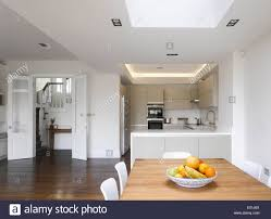 open plan kitchen dining room of london home crouch end london