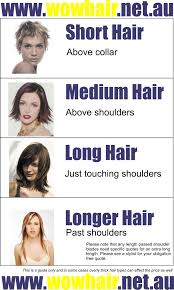 wow hair length guide wow hairdresser taigum and strathpine
