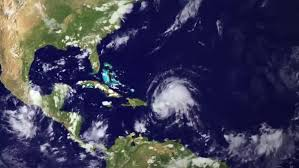 caribbean weather map a weather map tracks hurricane stock footage dissolve