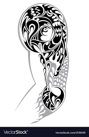 tribal arm royalty free vector image vectorstock