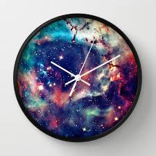 galaxy clock 40 wall clock can possibly make my own using fabric dyes and