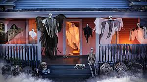 The Art Of Decorating A Front Entrance by Bone Garland Front Door Idea Haunted House Entrance Ideas