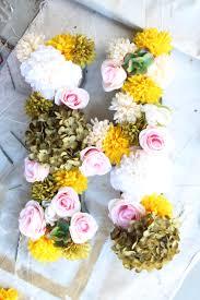 Faux Flowers Diy Faux Flower Metal Letter Simple Stylings