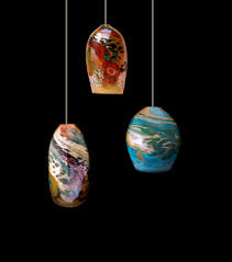 Blown Glass Pendant Lighting Blown Glass Lights At Dragonfire Gallery In Cannon