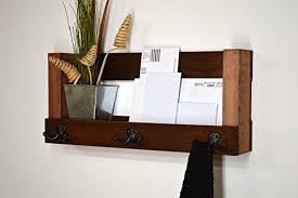 entry shelf amazon com entryway organizer rustic wall shelf keys phone mail