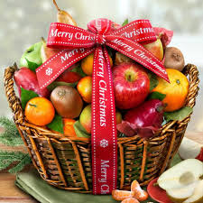 christmas fruit baskets merry christmas fruit basket aa4000x a gift inside