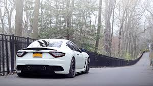white maserati wallpaper bodykit maserati granturismo street tuning wheels white walldevil