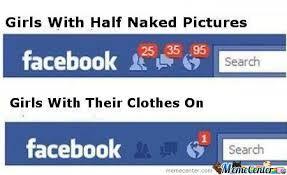 Girls On Facebook Meme - girls with half naked girls on facebook by ben meme center