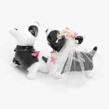 ring cake topper bull terrier wedding cake topper with pink bowl ring bearer dog