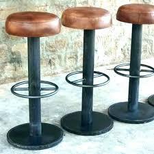 chaise bar chaise bar cuir tabouret de bar noir et blanc lou lot 2 tabourets