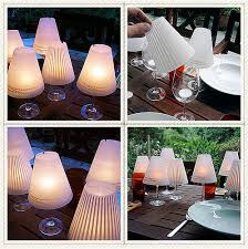 Glass Lamp Shades For Table Lamps Wine Glass Lamp Shades